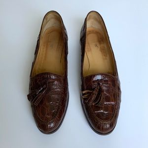 Vintage RALPH LAUREN Genuine Crocodile Loafers